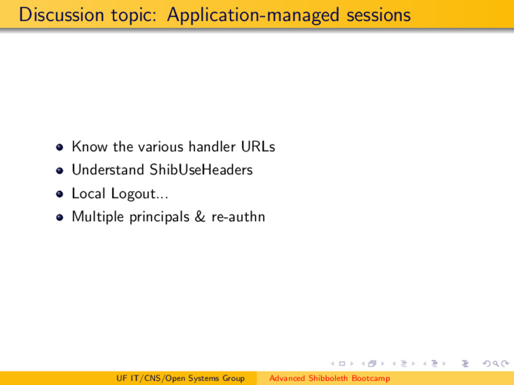 Discussion topic: Application-managed sessions ...