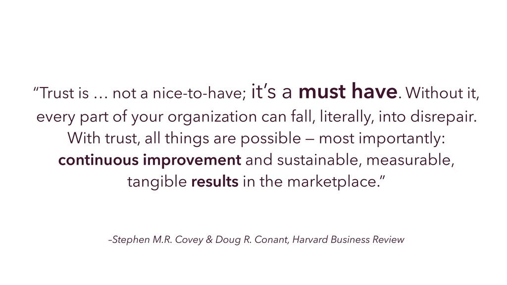 –Stephen M.R. Covey & Doug R. Conant, Harvard B...