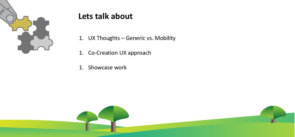 1. UX Thoughts – Generic vs. Mobility 1. Co-Cre...