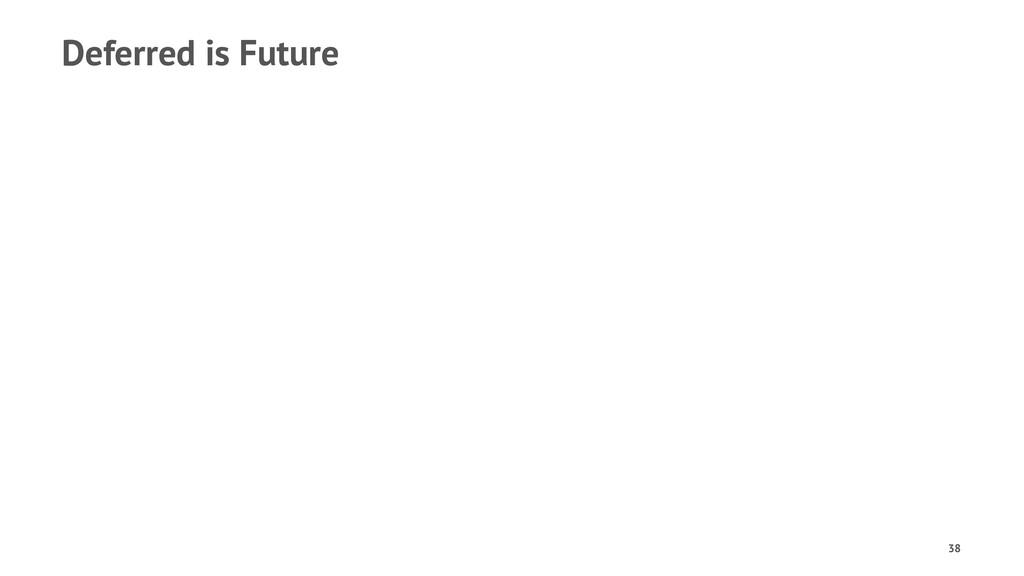 Deferred is Future 38