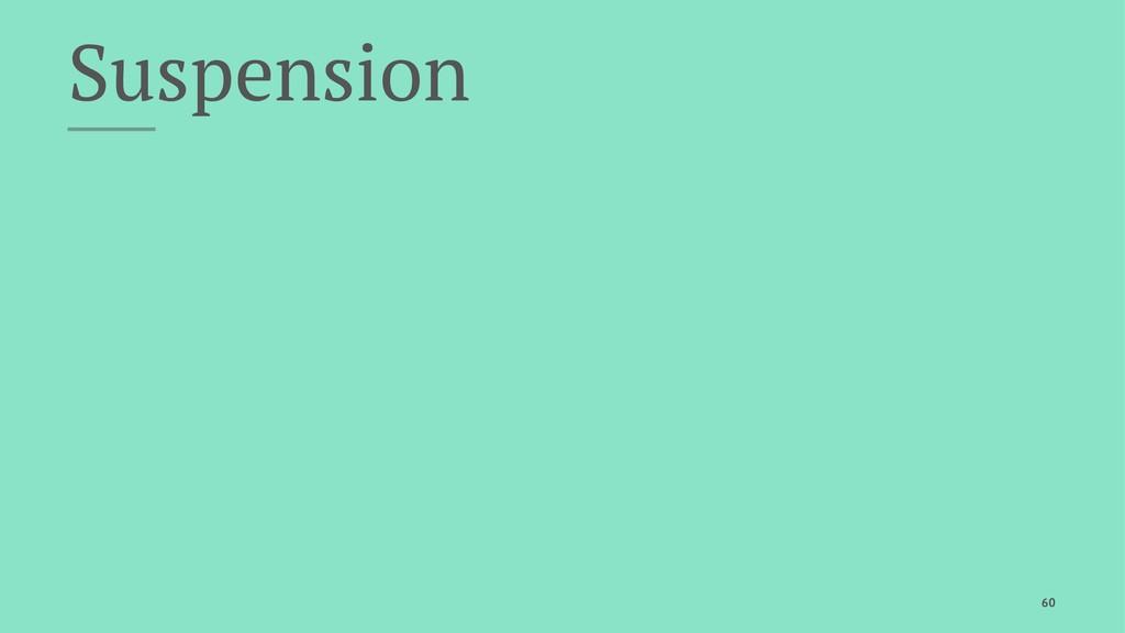 Suspension 60