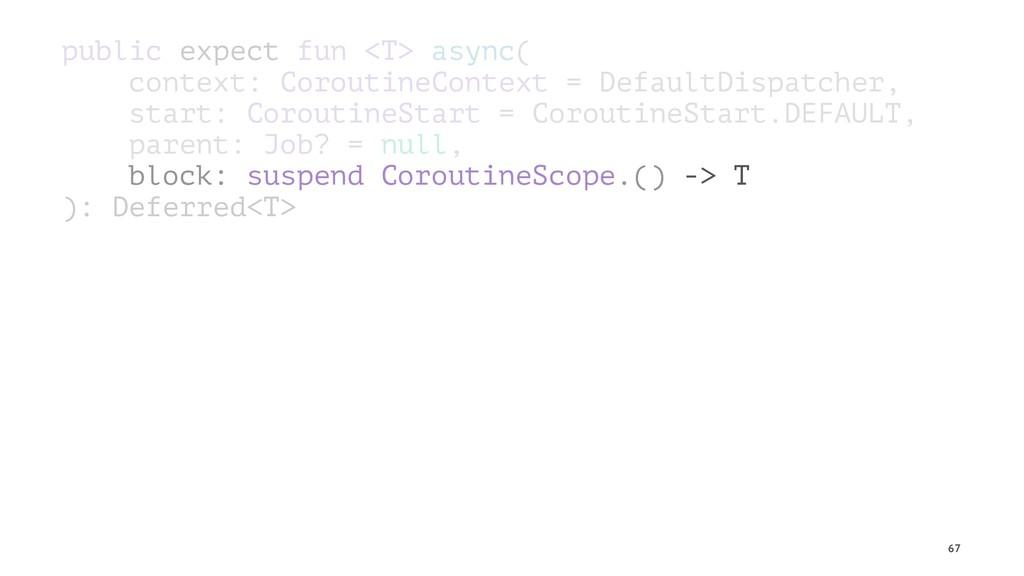 public expect fun <T> async( context: Coroutine...