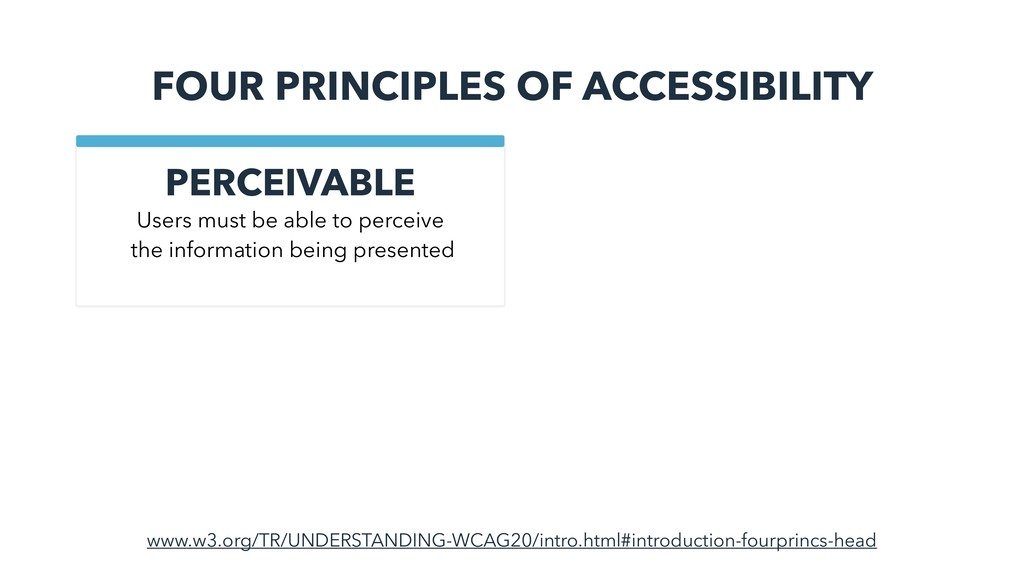 FOUR PRINCIPLES OF ACCESSIBILITY PERCEIVABLE ww...