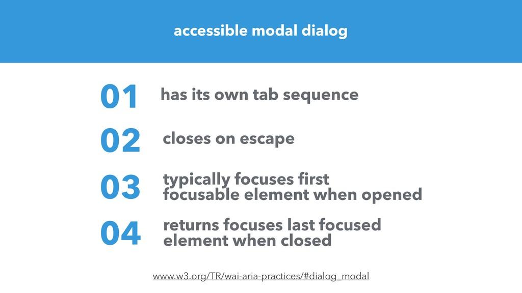 accessible modal dialog www.w3.org/TR/wai-aria-...