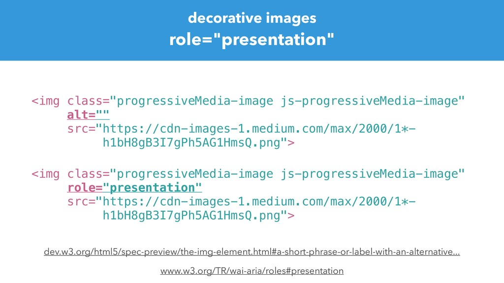 "decorative images role=""presentation"" <img clas..."