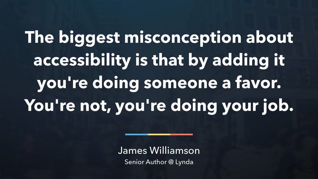 James Williamson Senior Author @ Lynda The bigg...