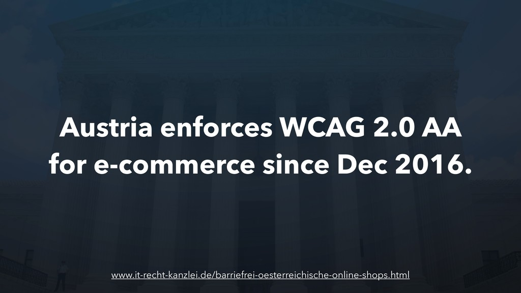 Austria enforces WCAG 2.0 AA for e-commerce sin...