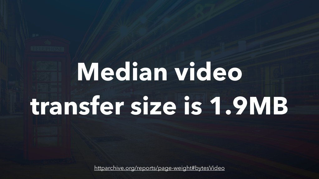 Median video transfer size is 1.9MB httparchive...