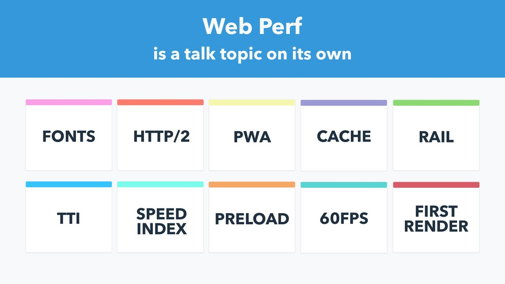 HTTP/2 PWA CACHE FONTS RAIL Web Perf is a talk ...
