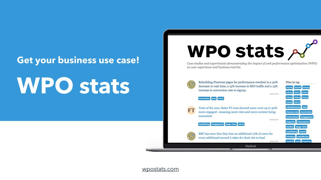 Get your business use case! WPO stats wpostats....