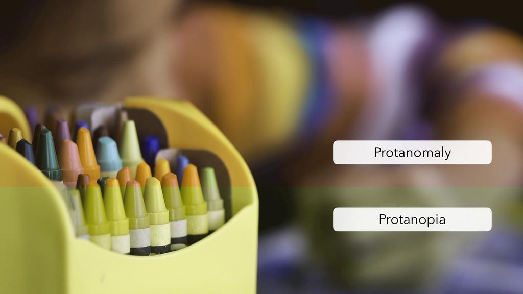 Protanomaly Protanopia