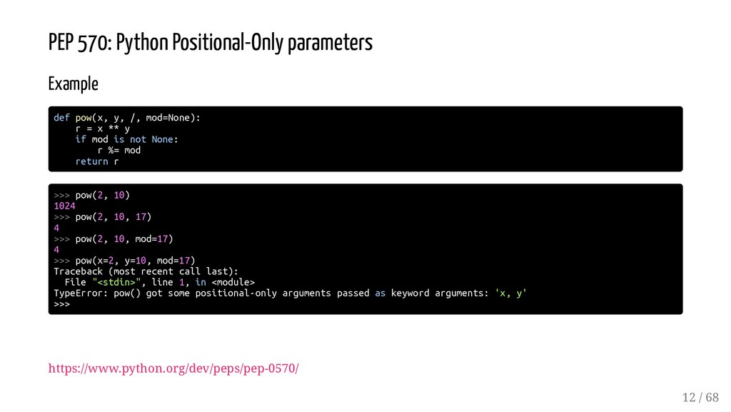 PEP 570: Python Positional-Only parameters Exam...