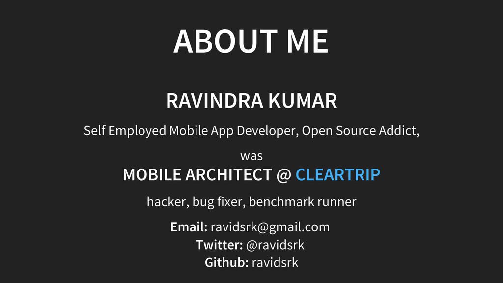 ABOUT ME RAVINDRA KUMAR Self Employed Mobile Ap...