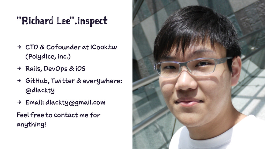 """Richard Lee"".inspect 4 CTO & Cofounder at iCoo..."