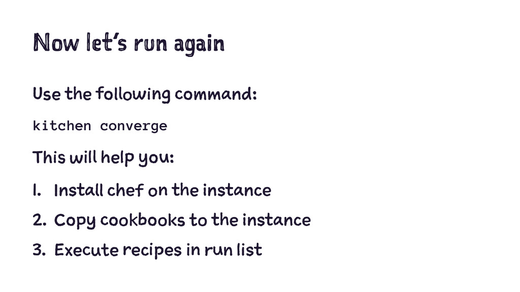 Now let's run again Use the following command: ...