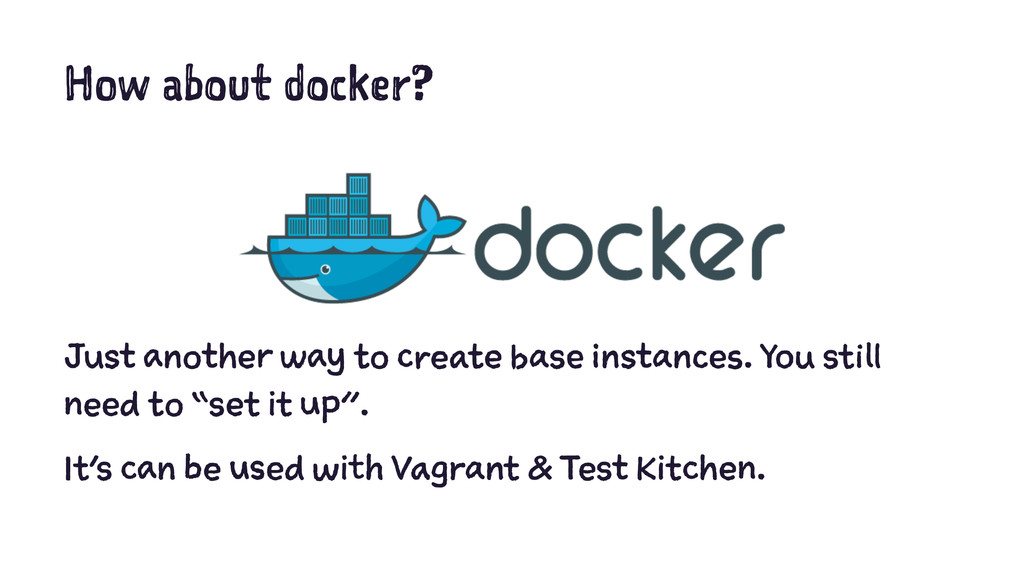 How about docker? Just another way to create ba...