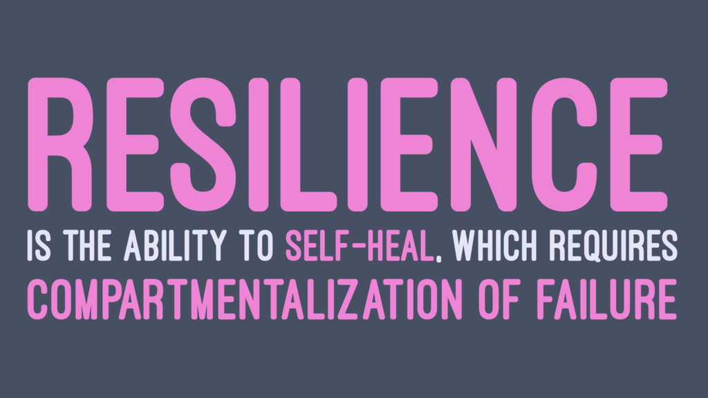 RESILIENCE IS THE ABILITY TO SELF-HEAL, WHICH R...