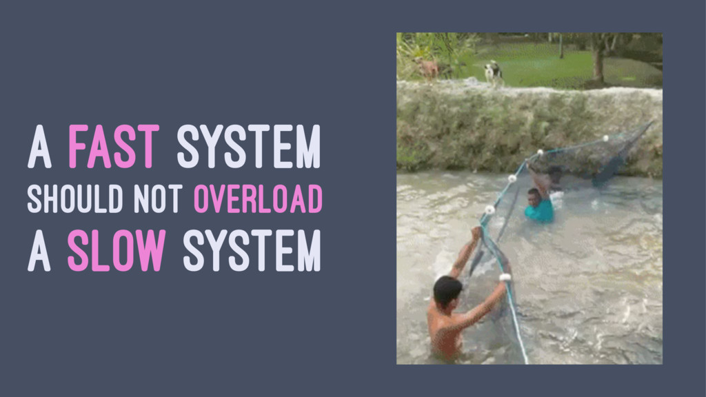 A FAST SYSTEM SHOULD NOT OVERLOAD A SLOW SYSTEM