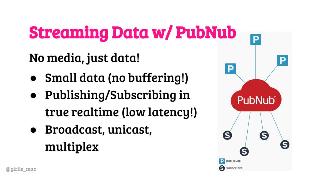 @girlie_mac Streaming Data w/ PubNub No media, ...