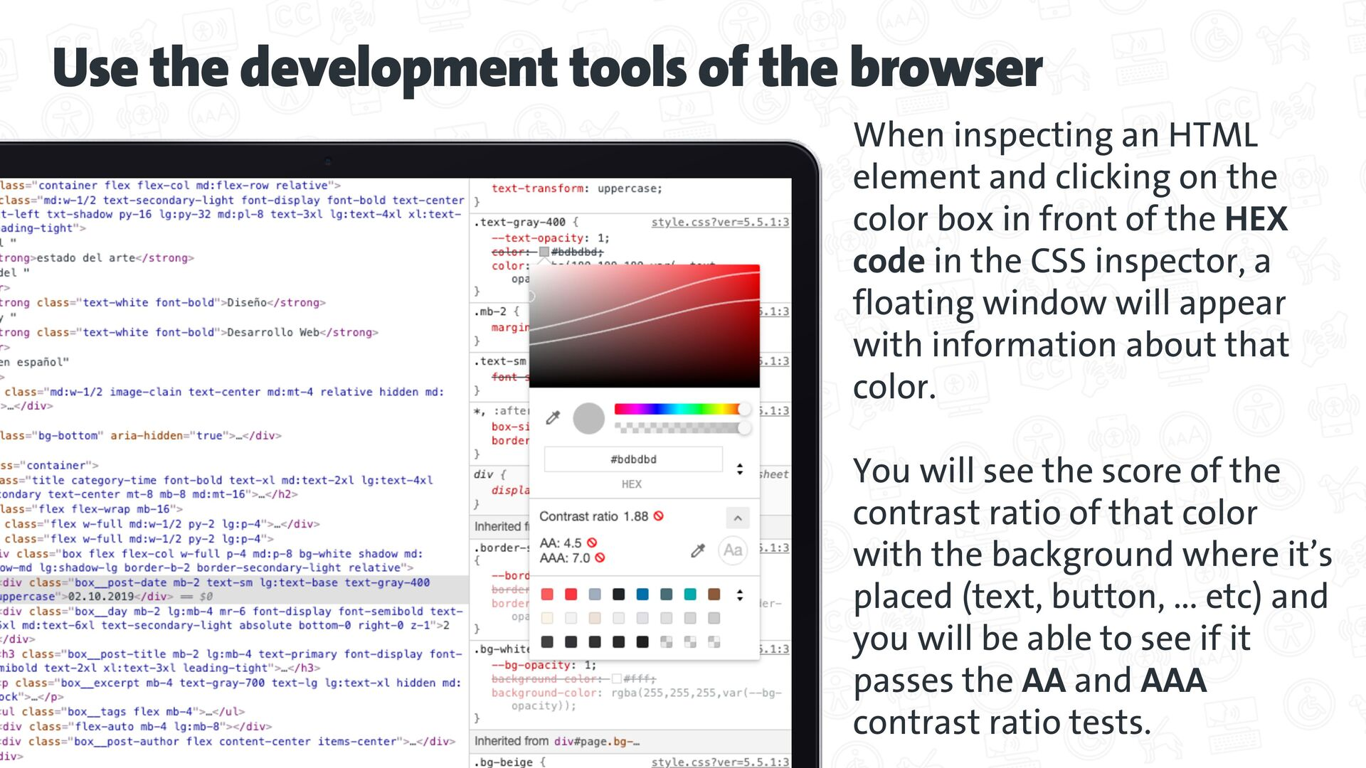 Use the development tools of the browser When i...