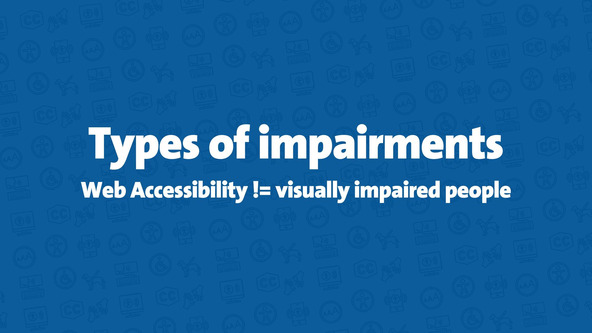 Web Accessibility (a11y) You need to click on t...