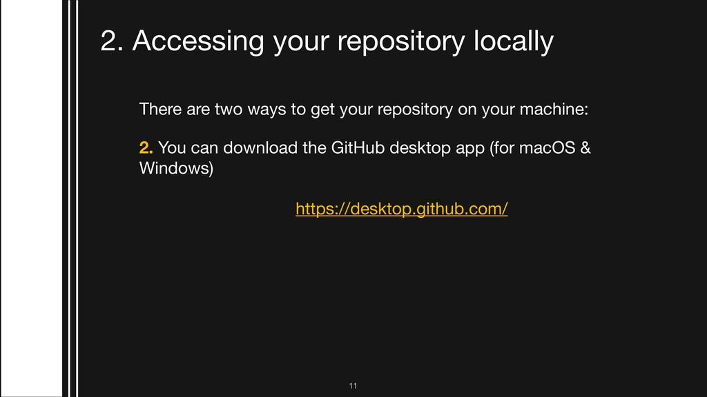 There are two ways to get your repository on yo...