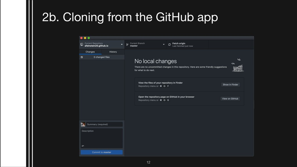 2b. Cloning from the GitHub app !12