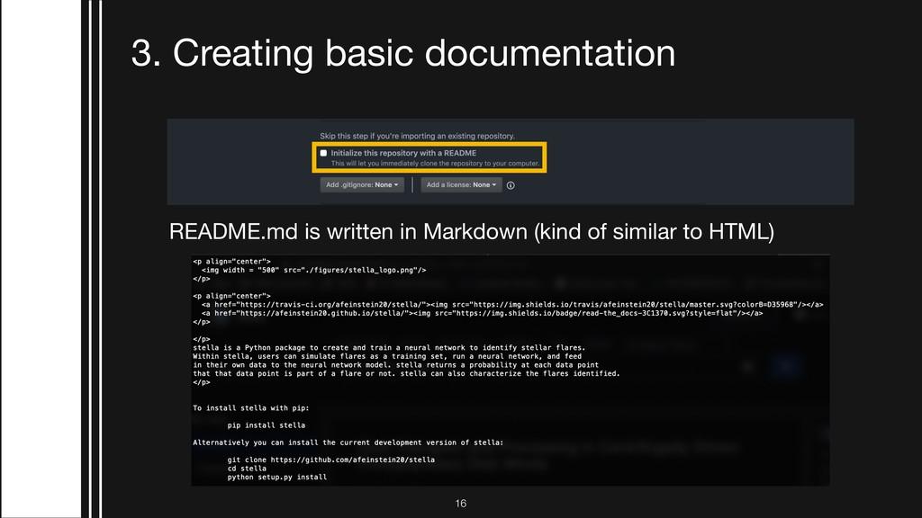 !16 3. Creating basic documentation README.md i...