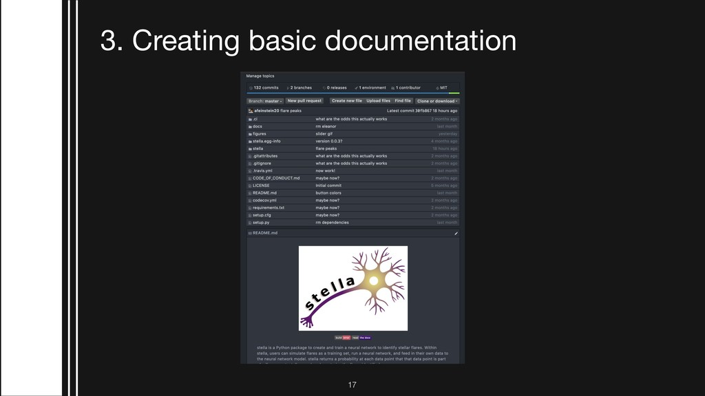 !17 3. Creating basic documentation
