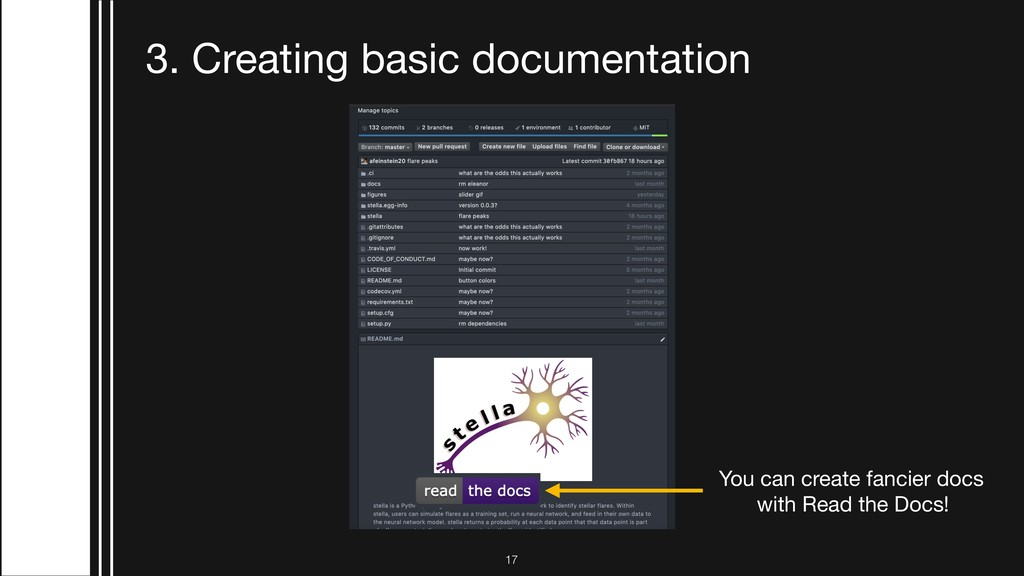 !17 3. Creating basic documentation You can cre...