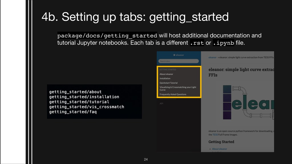 !24 4b. Setting up tabs: getting_started packag...