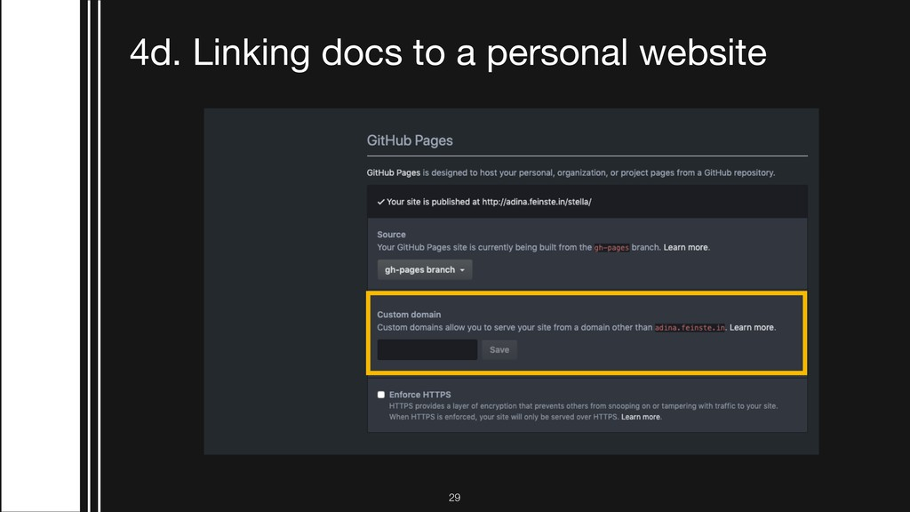 !29 4d. Linking docs to a personal website