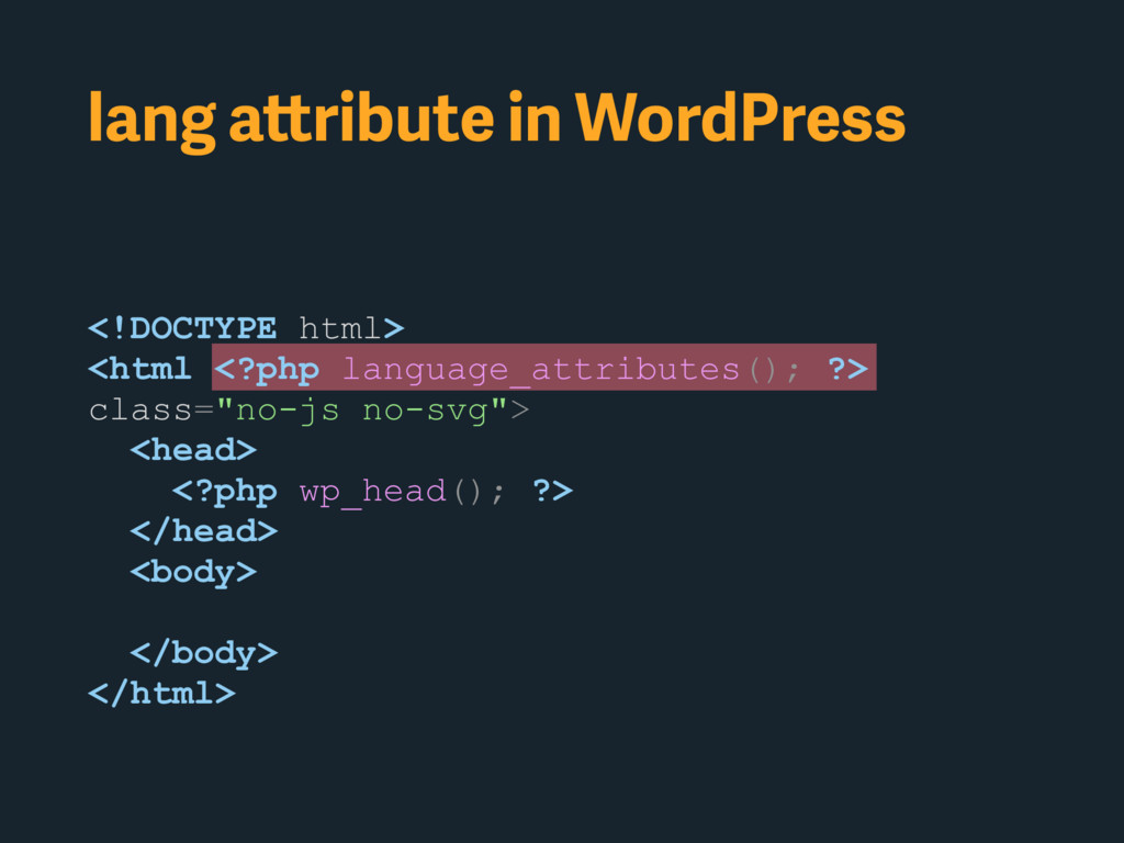 <!DOCTYPE html> <html <?php language_attributes...