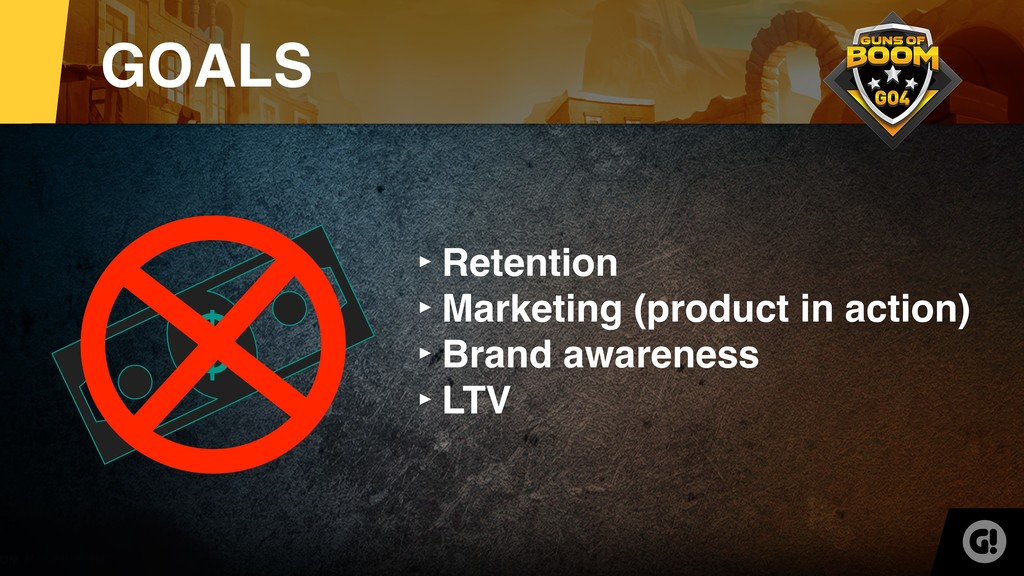 $ ‣Retention ‣Marketing (product in action) ‣Br...