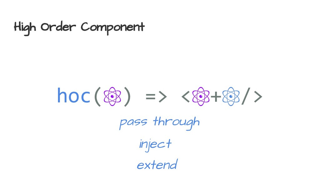 High Order Component hoc(⚛) => <⚛+⚛/> inject ex...