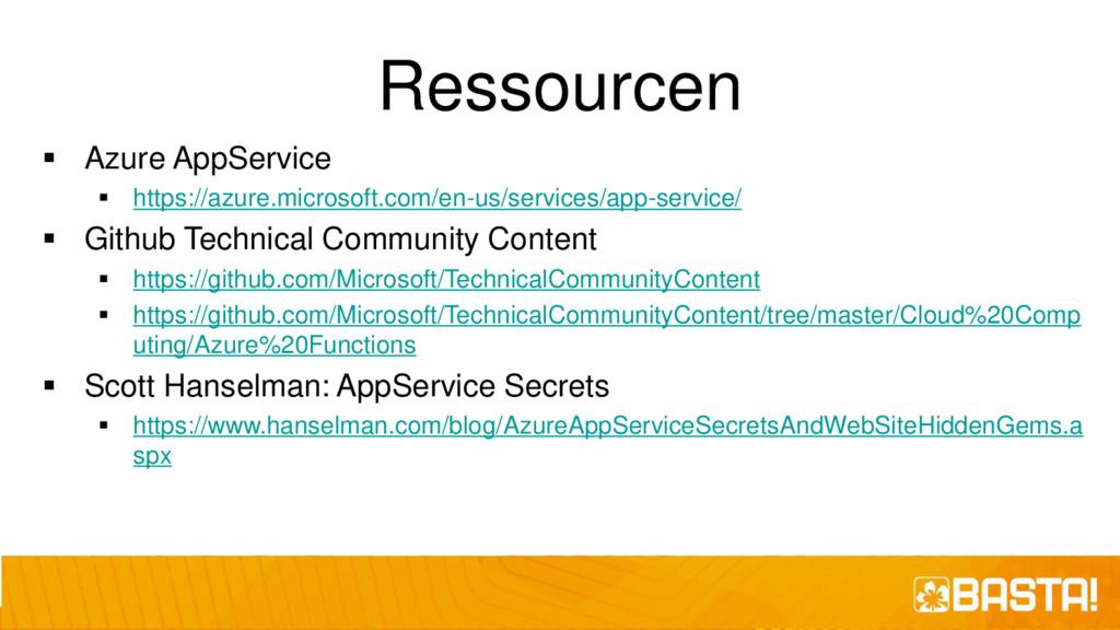 Ressourcen ▪ Azure AppService ▪ https://azure.m...