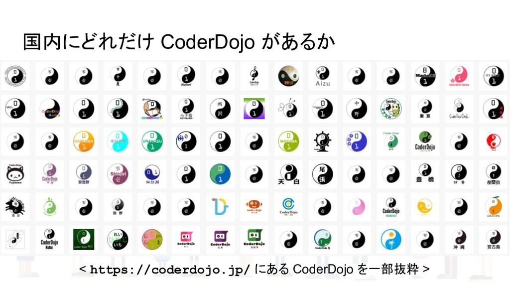 国内にどれだけ CoderDojo があるか < https://coderdojo.jp/ ...