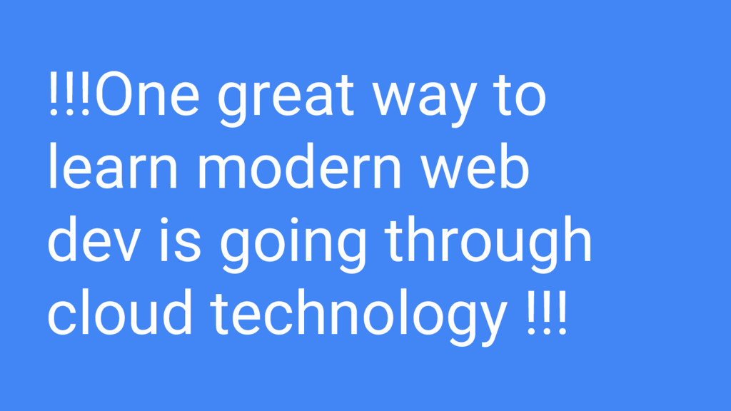 !!!One great way to learn modern web dev is goi...