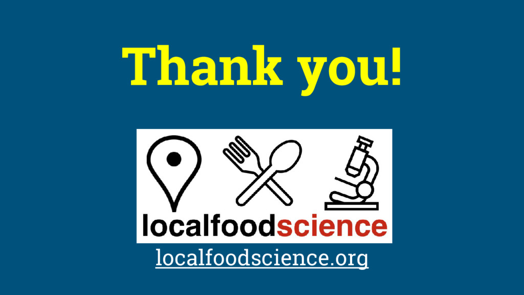 Thank you! localfoodscience.org