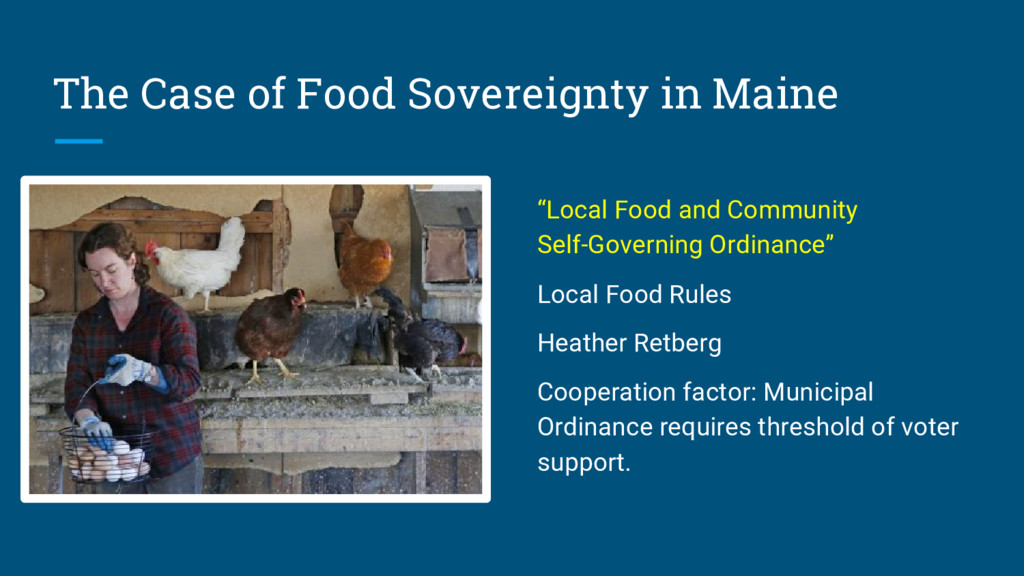 """The Case of Food Sovereignty in Maine """"Local Fo..."""