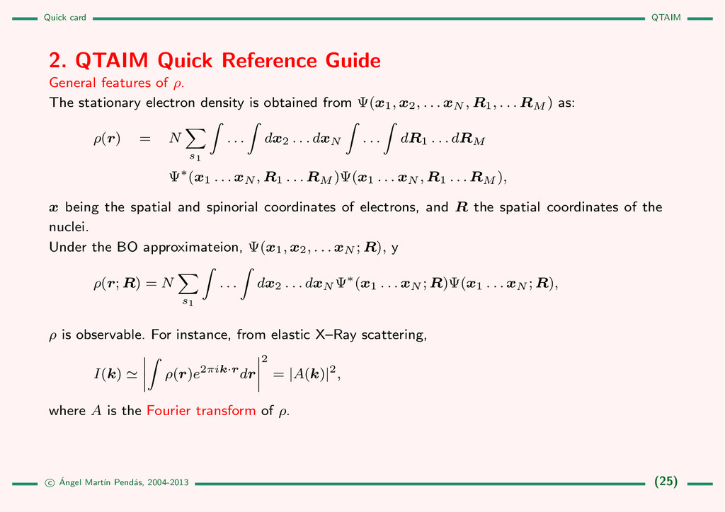 Quick card QTAIM 2. QTAIM Quick Reference Guide...