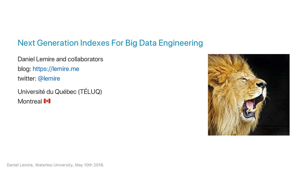 Next Generation Indexes For Big Data Engineerin...