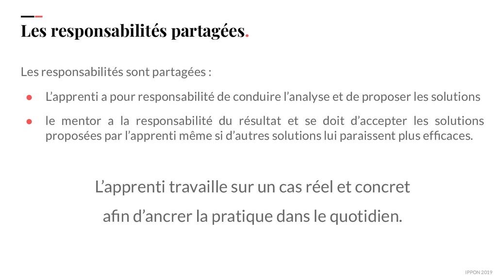 IPPON 2019 Les responsabilités partagées. Les r...