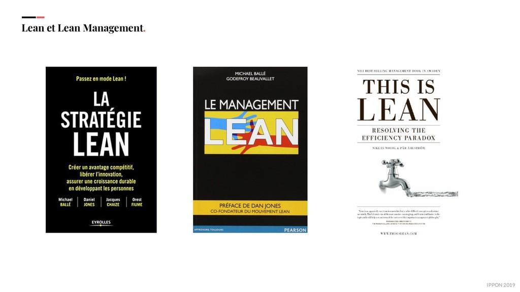 IPPON 2019 Lean et Lean Management.