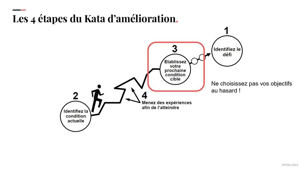 IPPON 2019 Les 4 étapes du Kata d'amélioration....