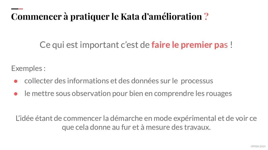 IPPON 2019 Commencer à pratiquer le Kata d'amél...