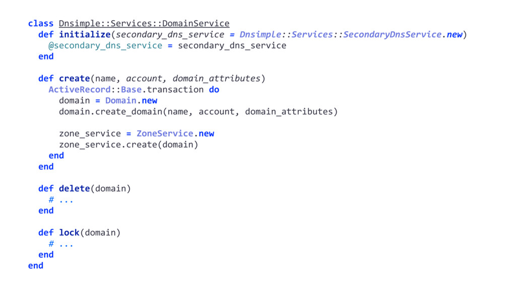 class Dnsimple::Services::DomainService def ini...