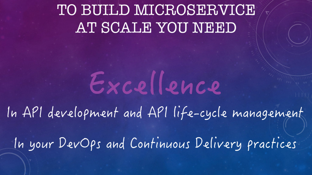TO BUILD MICROSERVICE AT SCALE YOU NEED +P#2+...