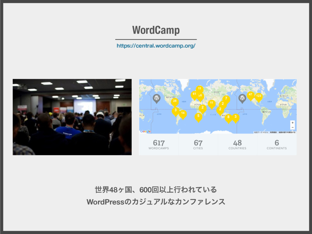 https://central.wordcamp.org/ WordCamp ੈք48ϲࠃɺ6...