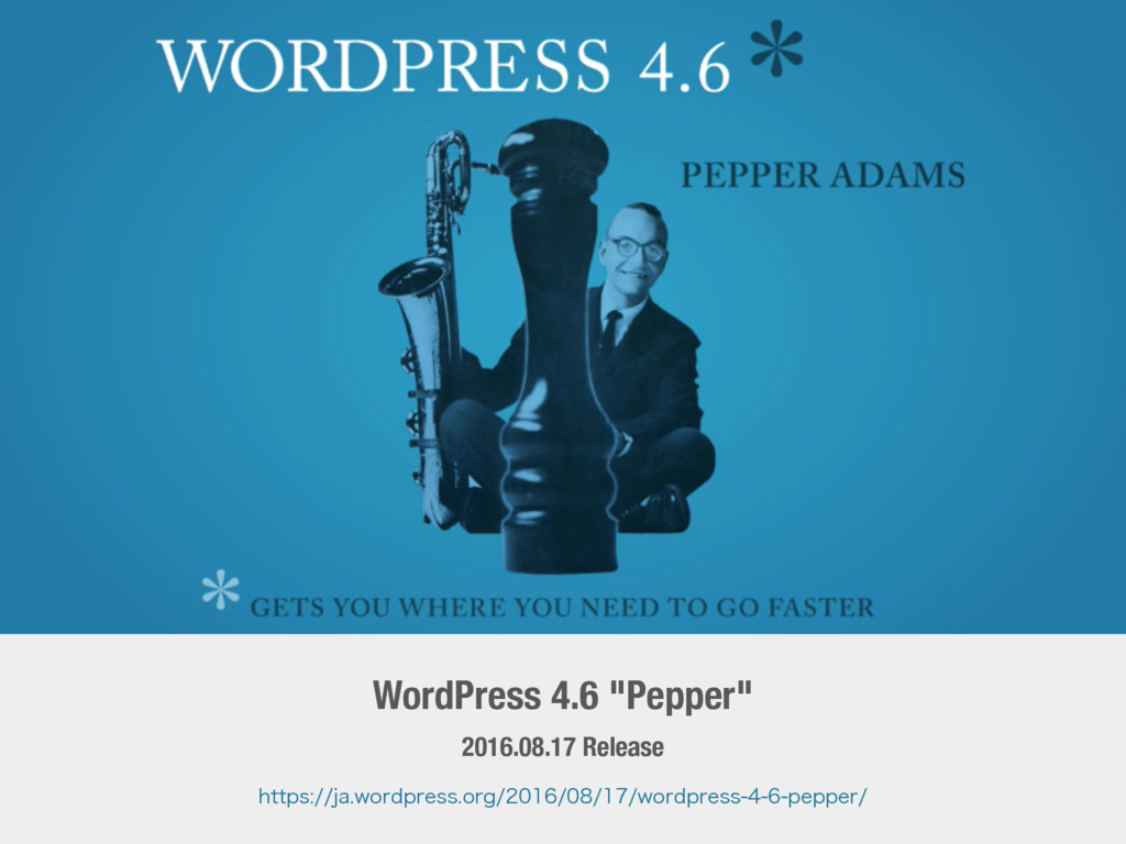 "WordPress 4.6 ""Pepper"" 2016.08.17 Release IUUQT..."